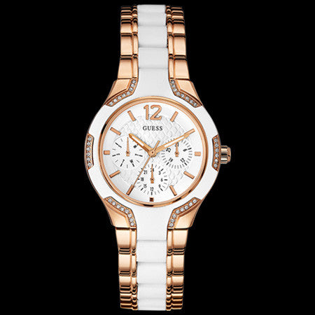 GUESS CENTRE STAGE ROSE GOLD LADIES SPORT WATCH