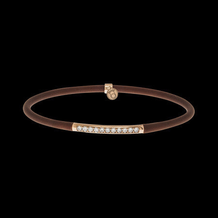 LE CORONE FOREVER ROSE GOLD CLEAR CZ BRACELET