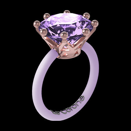 LE CORONE MAGNUM ROSE GOLD LILAC RING