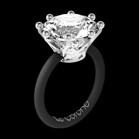 LE CORONE MAGNUM SILVER CLEAR CZ RING