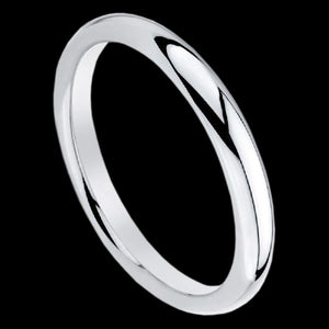 ELLANI STERLING SILVER CONVEX PLAIN BAND RING