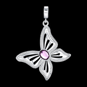KAGI PURPLE BUTTERFLY WINGS OF LOVE SMALL PENDANT