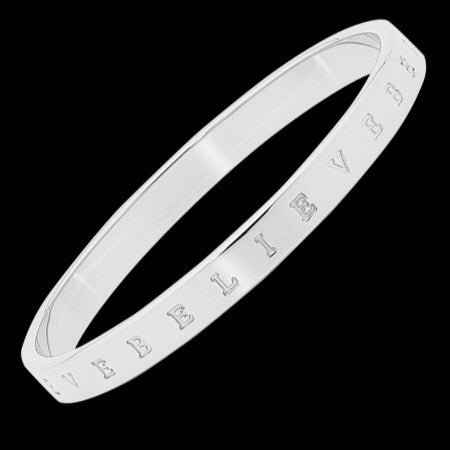 ELLANI STAINLESS STEEL 7MM BELIEVE BANGLE
