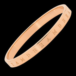 ELLANI STAINLESS STEEL ROSE GOLD IP 7MM DREAM BANGLE