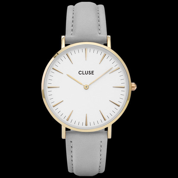 CLUSE LA BOHEME GOLD WHITE/GREY WATCH