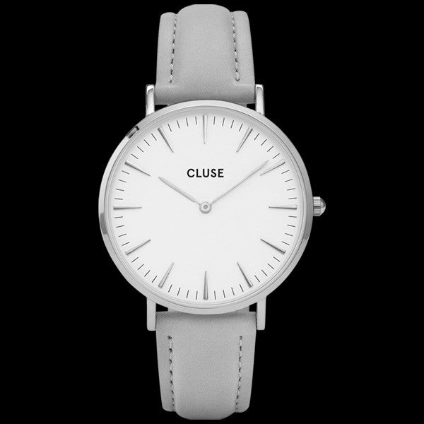 CLUSE LA BOHEME SILVER WHITE/GREY WATCH