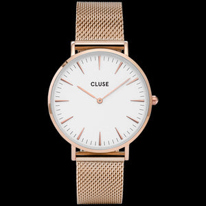 CLUSE LA BOHEME MESH ROSE GOLD/WHITE WATCH