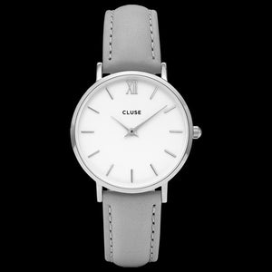 CLUSE MINUIT SILVER WHITE/GREY WATCH