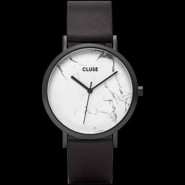 CLUSE LA ROCHE FULL BLACK/WHITE MARBLE WATCH