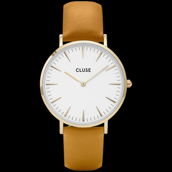 CLUSE LA BOHEME GOLD WHITE/MUSTARD WATCH