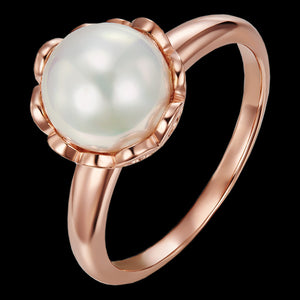 KAGI STERLING SILVER CHAMPAGNE BUBBLES ROSE PEARL RING