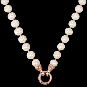 KAGI CHAMPAGNE BUBBLES ROSE CREAM PEARL 49CM NECKLACE