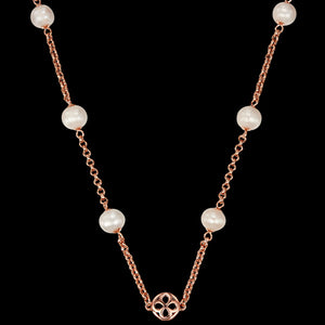 KAGI CHAMPAGNE BUBBLES 95CM ROSE PEARL NECKLACE