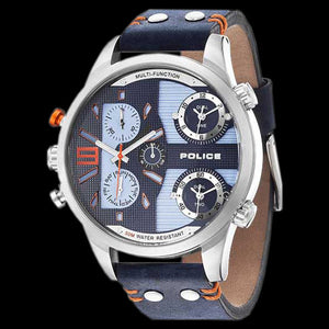POLICE MEN'S COPPERHEAD MULTI BLUE LEATHER WATCH