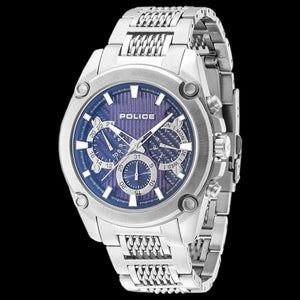POLICE MEN'S MESH UP BLUE DIAL WATCH