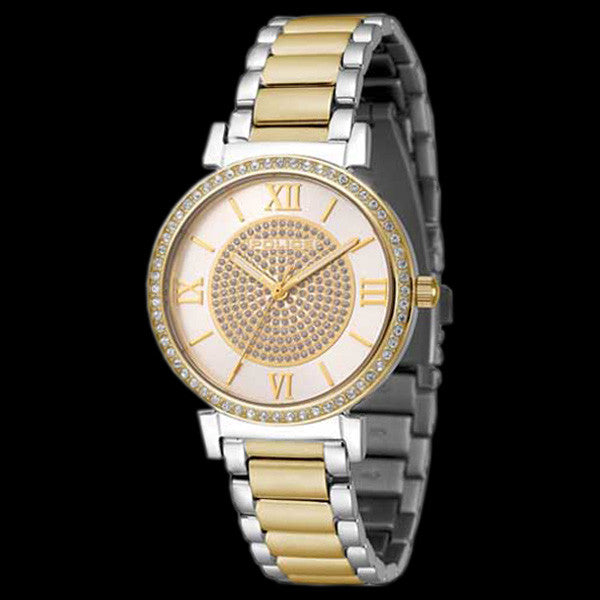 POLICE LADIES TWILIGHT GOLD DIAL TWO TONE WATCH