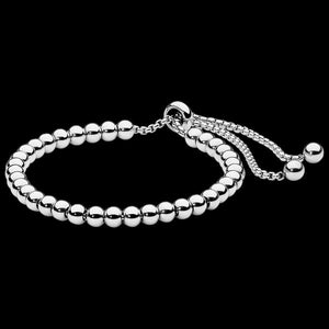 ELLANI STAINLESS STEEL 5MM BALL SLIDER BRACELET