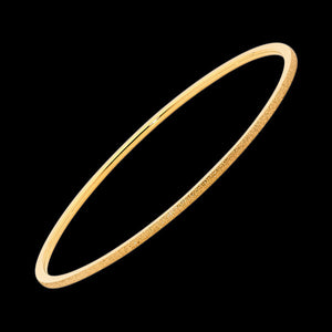 ELLANI STAINLESS STEEL 2MM SANDBLAST GOLD BANGLE