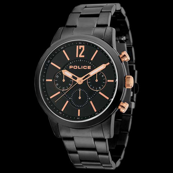 POLICE MEN'S LEGACY BLACK ROSE GOLD WATCH