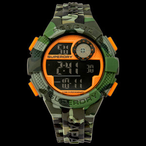SUPERDRY RADAR CAMO GREEN SILICONE WATCH