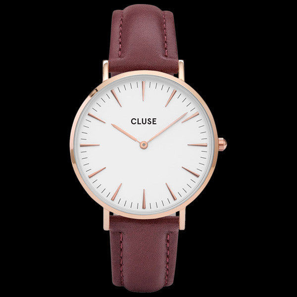 CLUSE LA BOHEME ROSE GOLD/WHITE MARSALA WATCH