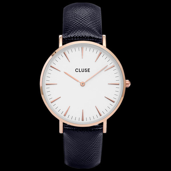 CLUSE LA BOHEME ROSE GOLD/WHITE MIDNIGHT BLUE WATCH