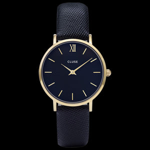 CLUSE MINUIT GOLD MIDNIGHT BLUE WATCH