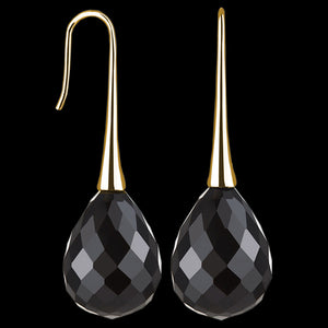 KAGI GOLD BLACK OPERA EARRINGS