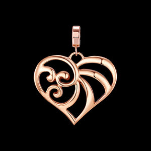 KAGI ROSE GOLD CHERISH SMALL HEART PENDANT