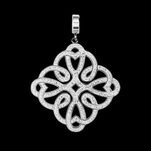 KAGI SILVER FILIGREE LABYRINTH PENDANT