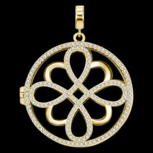 KAGI MARRAKESH GOLD DREAMCATCHER LARGE PENDANT