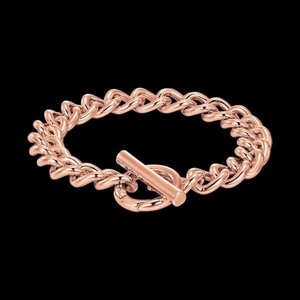 KAGI ROSE GOLD ESSENTIAL CURB BRACELET