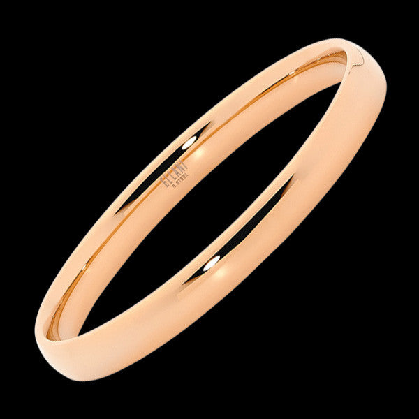 ELLANI STAINLESS STEEL 8MM ROSE GOLD IP CLASSIC CONVEX BRACELET