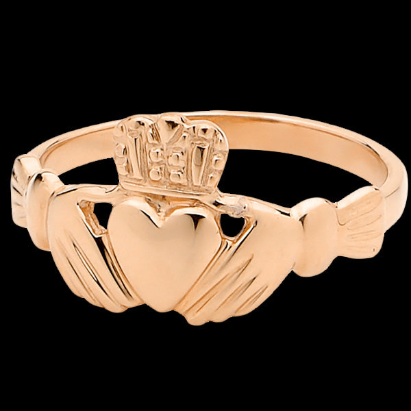 9 KARAT ROSE GOLD IRISH CLADDAGH RING