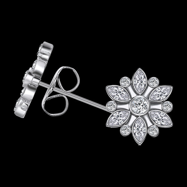 KAGI SNOWFLAKE STUD EARRINGS