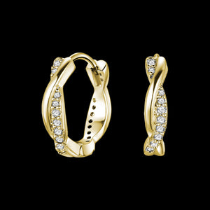 KAGI GOLD TWIST HUGGIE EARRINGS