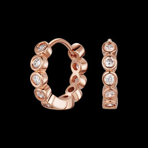 KAGI ROSE GOLD BUBBLES HUGGIE EARRINGS