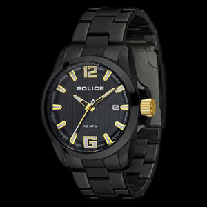 POLICE LANCER BLACK GOLD WATCH