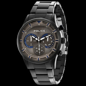 POLICE DRIVER GUN METAL WATCH