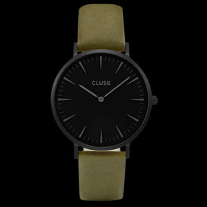 CLUSE LA BOHEME FULL BLACK/OLIVE GREEN WATCH