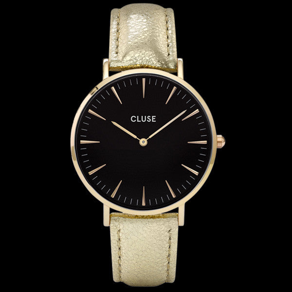 CLUSE LA BOHEME GOLD BLACK/GOLD METALLIC WATCH