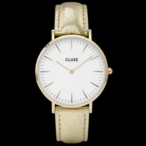 CLUSE LA BOHEME GOLD WHITE/GOLD METALLIC WATCH