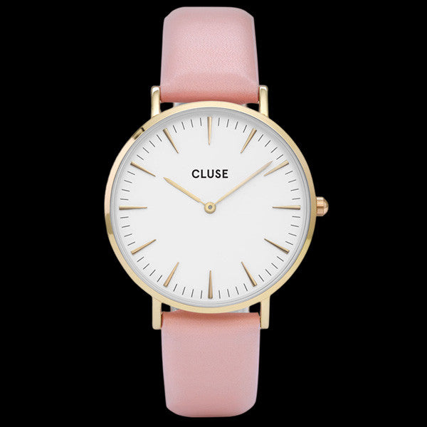 CLUSE LA BOHEME GOLD WHITE/PINK WATCH