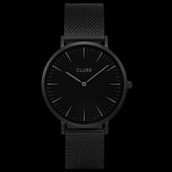 CLUSE LA BOHEME MESH FULL BLACK WATCH
