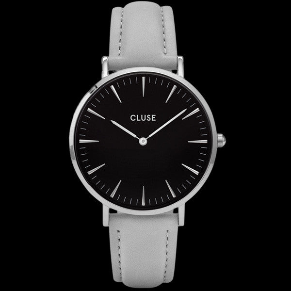 CLUSE LA BOHEME SILVER BLACK/GREY WATCH