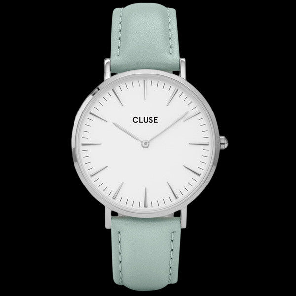 CLUSE LA BOHEME SILVER WHITE/PASTEL MINT WATCH