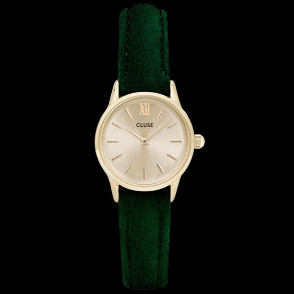 CLUSE LA VEDETTE GOLD GREEN VELVET LIMITED EDITION WATCH