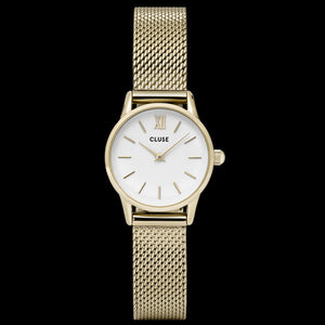 CLUSE LA VEDETTE MESH GOLD/WHITE WATCH