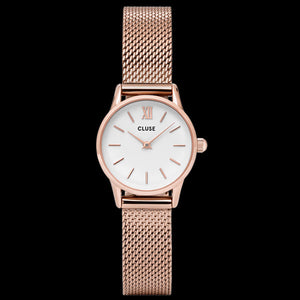 CLUSE LA VEDETTE MESH ROSE GOLD/WHITE WATCH