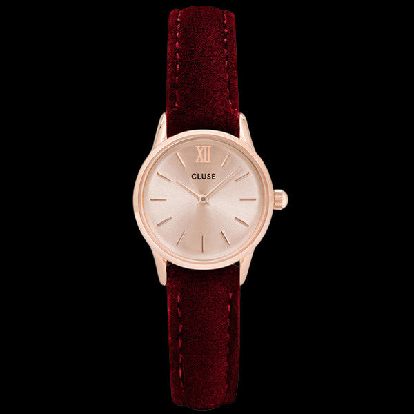 CLUSE LA VEDETTE ROSE GOLD RED VELVET LIMITED EDITION WATCH